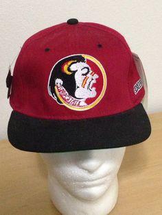 49a112b0866 Starter FSU Florida State Seminoles Football Winston 90s Red Fitted Cap Hat  7-1
