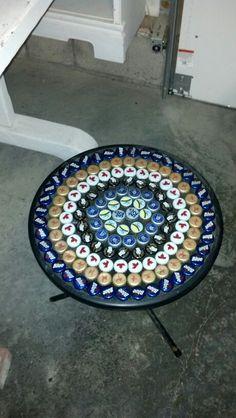 Beer bottle cap table