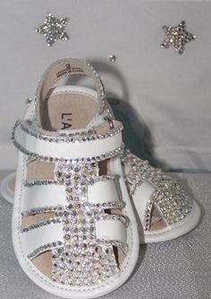 Swarovski Sailor Sandals at The Dazzle Diva for the little one.