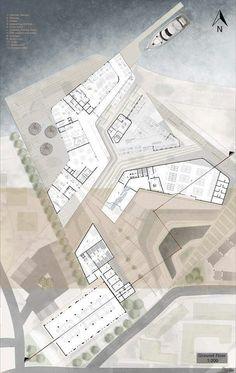 Architecture,Adobe Photoshop,Autodesk Max,Autodesk Revit Architecture (All Versions),SketchUp Architecture Concept Diagram, Architecture Presentation Board, Architecture Collage, Architecture Graphics, Architecture Drawings, Architecture Design, Site Development Plan, Urban Design Diagram, Clinic Design