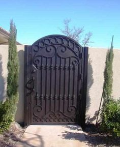 Courtyard Gate Custom-01 - Wrought Iron Doors, Windows, Gates, & Railings from Cantera Doors