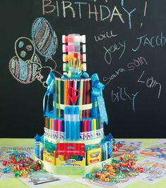 Art Supplies Gift Cake