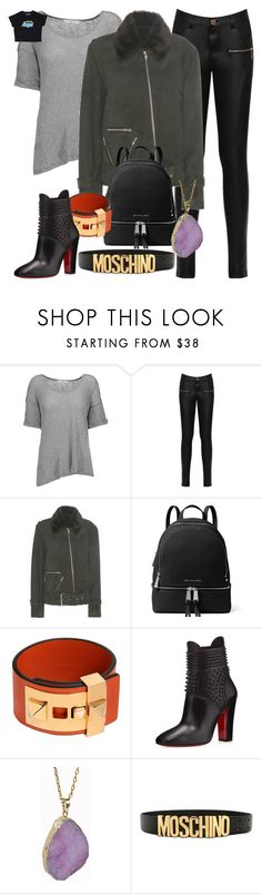 """""""Clary Fray [shadowhunters]"""" by cheapchicceleb ❤ liked on Polyvore featuring Kain, WearAll, Public School, MICHAEL Michael Kors, Valentino, Christian Louboutin, Helix & Felix, Moschino, television and fandomfashion"""