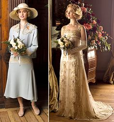 Lady Rose wore both her wedding getups the same day in the pretty blue suit with the interesting side gusseted skirt and straw hat Lily James Downton Abbey, Downton Abbey Season 6, Downton Abbey Episodes, Downton Abbey Costumes, Downton Abbey Fashion, 20s Fashion, Fashion Dresses, Fashion News, Korean Fashion