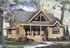Comfort Cabin - 5999ND   Log, Narrow Lot, 1st Floor Master Suite, PDF   Architectural Designs