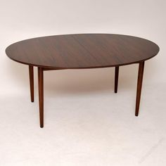 Antiques Atlas - Danish Rosewood Dining Table By Finn Juhl Danish Furniture, Cabinet Makers, Danish Modern, Makers Mark, Modern Design, Dining Table, Shelves, Antiques, Home Decor
