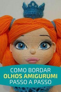 Crochet Amigurumi Free Patterns, Crochet Toys, Free Crochet, Knit Crochet, Crochet Fairy, Crochet Flowers, Doll Eyes, Amigurumi Doll, Crochet Animals