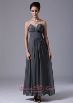 1a8abe8b956 Buy modest sweetheart dark grey ankle length evening party dresses with  ruche from cheap party dresses collection