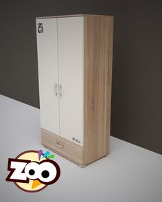 ZOO – 2 ajtós 1 fiókos szekrény  #babaszekrény Tall Cabinet Storage, Locker Storage, Lockers, Furniture, Home Decor, Products, Decoration Home, Room Decor, Locker