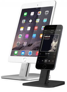 The HiRise Deluxe by Twelve South props screens where you can see them while it charges. Yay for getting organized!