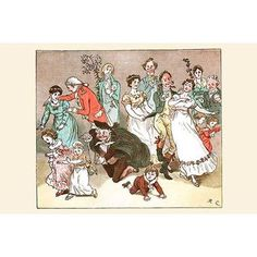 Buyenlarge 'The Great Professor Fell to His Knees to Play' by Randolph Caldecott Painting Print Size:
