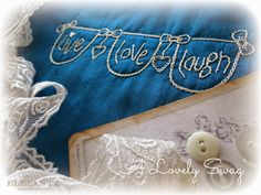 """""""A Lovely Swag"""" inside Month 2 of the Jenny of Elefantz Stitchery Club. It's so easy to join!"""