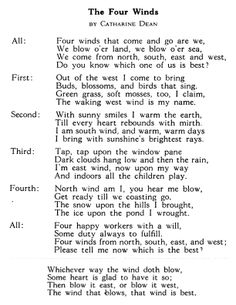 poem to remember the difference between the winds from the free ebook Projects and games in the primary grades (search on google if you want to find it)