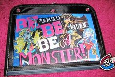 Monster High School Supplies 3-hole binder pencil/accessory case