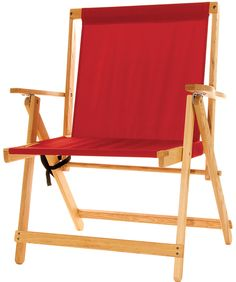 """The XL Deck Chair - Red For people seeking greater comfort, we made the Highlands deck chair in an XL size, with a 22"""" width seat. These chairs offer amazing comfort and support weights up to 500 lbs. Everything about this chair is heavy duty, yet with a classic style. With the comfortable carry handle and ChairLock buckle closure attachment, the XL Deck Chair is easy to carry, set up, and store."""