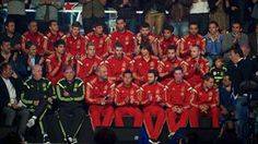 Members of the Spain national soccer team