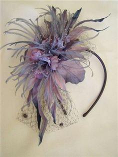 More fascinator feathers. More fascinator feathers. Fascinator Headband, Fascinators, Headpieces, Tea Party Hats, Millinery Hats, Kentucky Derby Hats, Fancy Hats, Love Hat, Wedding Hats