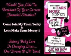 I'm winning with Skinny Body Care!!! You can too! Join me! Shrink your waist and fatten up your bank account! Check it out! http://natalieschuessel.SBCPower.com/  message me if you have any questions www.facebook.com/natalie.wood.7505