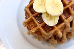A quick, easy, healthy breakfast recipe to whip up for for your friends and family: Gluten-Free Banana Belgian Waffles.