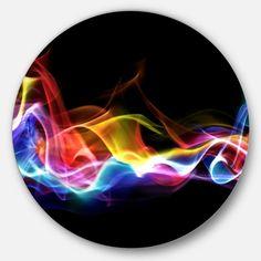 Abstract Waves, Black Abstract, Illusion Paintings, Circle Painting, Flame Art, Abstract Digital Art, Circle Metal Wall Art, Metal Artwork, Contemporary Artwork