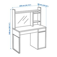 IKEA MICKE workstation Can be placed in the middle of a room because the back is finished. Ikea Micke, Micke Desk, Plastic Shelves, Study Room Decor, Honeycomb Paper, Bedroom Desk, White Desks, Drawer Unit, Home Office Design