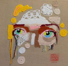 self portrait crochet art katika