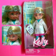 Kelly (Barbie's Little Sister) Optometrist Doll  (Hat Tip: Marco Ophthalmic) - Totally getting this for the kids!