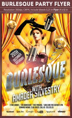 Burlesque Party Flyer