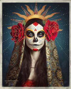Day_Of_The_Dead_Sugar_Skull_creation_1.jpg (600×747)