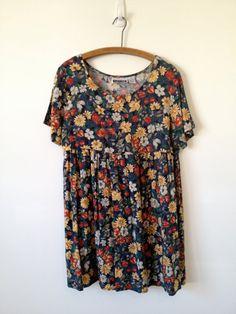vintage 90s floral grunge babydoll dress m by vintspiration, $28.00