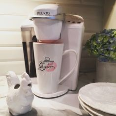 Instagram User Homeonfernhill Adds A Touch Of White To Her Kitchen With Keurig Brewer