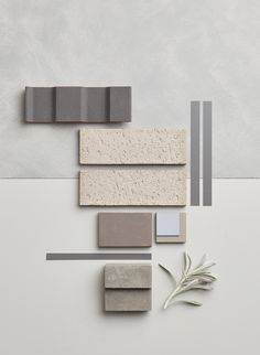 Encapsulating a vast spectrum of shades, the Grey all the Way palette layers grey-upon-grey for a home with long-lasting elegance and sophistication. Wall Decor Design, Tile Design, Paint Colors For Home, House Colors, Mood Board Interior, Interior Design Presentation, Material Board, Dream Home Design, Colour Schemes