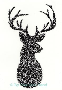 Mr Stag A3 Giclee Print