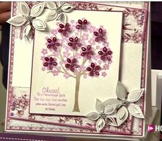 Scrapbook Cards, Scrapbooking, Chloes Creative Cards, Stamps By Chloe, Crafters Companion Cards, Cherry Blossoms, Diy Cards, Homemade Cards, Diana