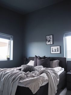 Aimforhappiness Blue Blue Rooms, Bedroom, Interior, Furniture, Color, Home Decor, Bedrooms, Rome, Blue Bedrooms
