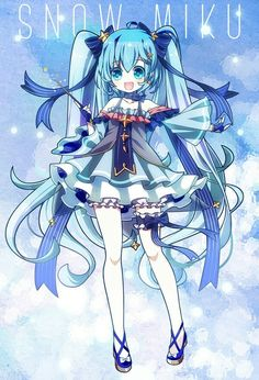 Kaito, Hatsune Miku, Otaku, Manga Clothes, Miku Chan, I Love Snow, Anime Base, Kawaii Anime Girl, Manga Girl