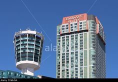 Niagara Falls skyline on a sunny day with blue skies DYMHNA : Rights Managed stock photo | Alamy