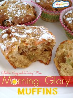 Gluten Free Dairy Free Egg free morning glory muffins MOMables.com