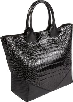 Givenchy Crocstamped Easy Tote in Black | Lyst