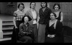 """Simone Weil and fellow teachers.    In the 1930s, Weil spent a number of years teaching philosophy to female students at lycées throughout France. Image from """"An Encounter with Simone Weil,"""" a documentary film by Julia Haslett. www.linestreet.net"""