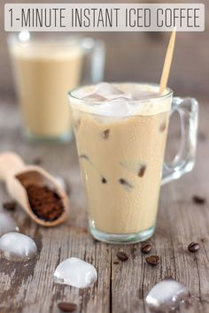 Instant Iced Coffee Recipe – Happy Foods Tube This Instant Iced Coffee is the best way to enjoy a cup of coffee in summer. Easy and refreshing drink recipe made with instant coffee. Instant Iced Coffee Recipe, Iced Coffee At Home, Iced Coffee Drinks, Coffee Drink Recipes, Coffee Tasting, Healthy Iced Coffee, Homemade Iced Coffee, Best Iced Coffee, Iced Tea