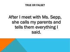 Ms. Sepp's Counselor Corner: First Week: Meet the Counselor