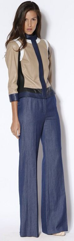 Escada RTW Spring 2013 >Love the pants! Viernes Casual, 2014 Fashion Trends, Foto Real, Thing 1, Autumn Winter Fashion, Work Wear, Ready To Wear, Fashion Looks, Spring