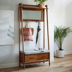 Mid-Century Hall Stand   west elm                                                                                                                                                      More