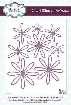 Delicate Daisies-Open Petal - Finishing Touches Collection - Craft Dies by Sue Wilson for Creative Expressions.
