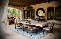 killer outdoor dinning room