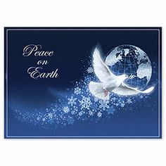 Peace Dove Holiday Cards H2637 | Peace Christmas Cards | Deluxe ...