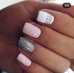 Pink Acrylic Nails, Nude Nails, Gel Nails, Pretty Nail Art, Cute Nail Art, Prom Nails, Mani Pedi, Simple Nails, Nail Art Designs
