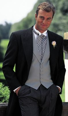 Is this like what Chuck will be wearing (sans smirk or Baywatch hair grease)??Vintage Inspired Tuxedo on wedding bee