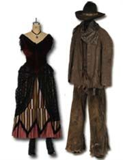 1800's Saloon Girl & Cowboy costumes
